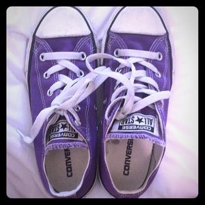 Purple girls converse sneakers lo 1